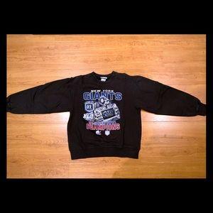 NY Giants Super Bowl Champion Sweatshirt Youth L
